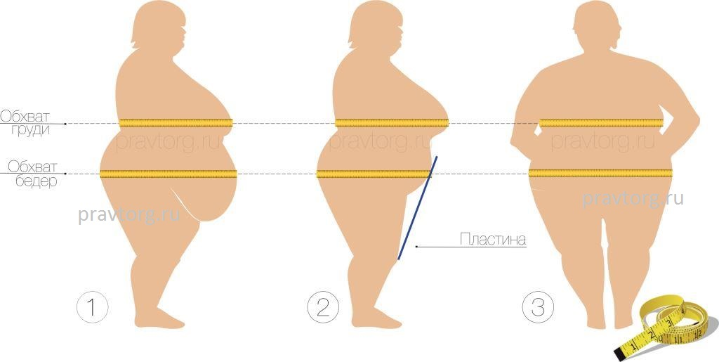 Как измерить обхват груди и обхват бедер