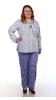 Женская пижама с длинными рукавами для полных дам Размер 62 64 66 68 70 72 74 76 Стильная Хлопок 100%.  Помощь в подборе размера. Недорогая доставка по России почтой. Наложенный платеж. Примерка в Москве. Розница.