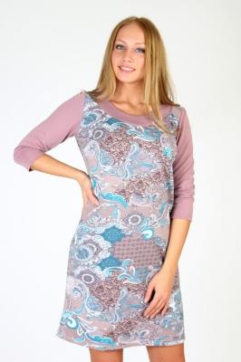 Нежное сиреневое платье в цветочек  Размер 50 52 54 56 Хлопок 100%  недорогая доставка по России. Помощь в подборе размера. Примерка в Москве. Наложенный платеж. Розница.