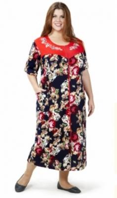 Яркий летний женский хлопчатобумажный халат с короткими рукавами Размер 62 64 66 68 70 72  Хлопок 100%  Помощь в подборе размера. Недорогая доставка по России почтой. Наложенный платеж. Примерка в Москве. Розница.