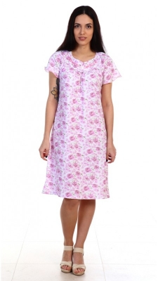 Женская ночная сорочка-комплект с короткими рукавами в розовых тонах  Размер 48 50 52 54 56 58 60 62 64 Стильная Хлопок 100%.  Помощь в подборе размера. Недорогая доставка по России почтой. Наложенный платеж. Примерка в Москве. Розница
