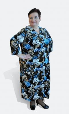 Длинный велюровый халат на пуговицах Барыня