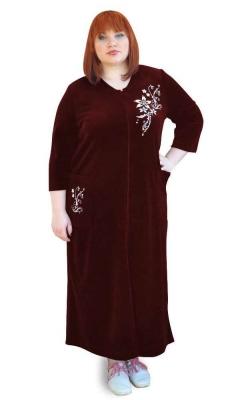 Длинный велюровый халат  Монтичелло