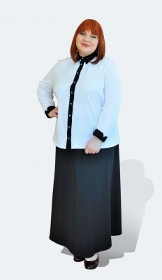Деловая блузка большого размера 62 64 66 68 7072 74 76 78 80