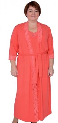 Комплект халат и майка с шортиками  Милена 5