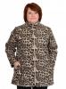 Женская флисовая толстовка большого размера леопардовой расцветки