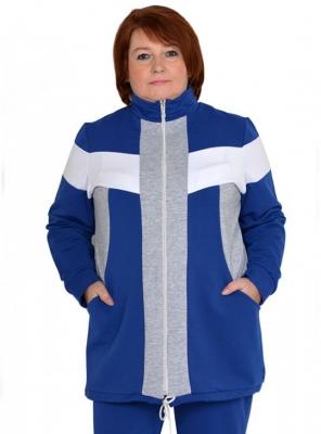 Женская спортивная куртка из футера большого размера 62 64 66 68 70 72 74 76 78 80 82