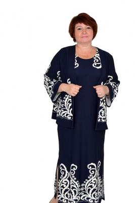 Платье-комплект большого размера 60 62 64 66 68 7072 74 76 78 80 Престли
