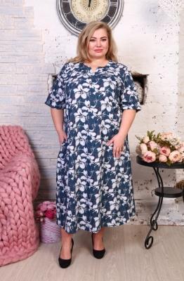 Платье большого размера 62 64 66 68 70 72. Хлопок 100%.
