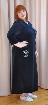 Длинный велюровый халат  Монтичелло 2